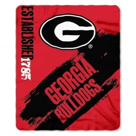 Georgia Bulldogs Blanket 50x60 Fleece College Painted Design