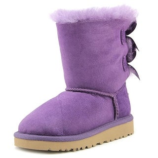 Ugg Australia Bailey Bow Toddler  Round Toe Leather Purple Winter Boot