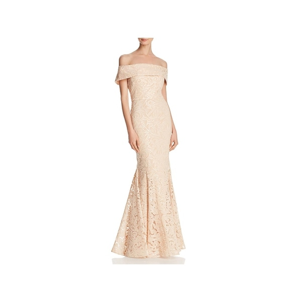 Eliza J Womens Formal Dress Off-The-Shoulder Sequined