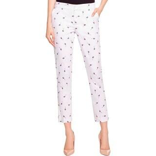 NYDJ Womens Corynna Trouser Pants Printed Ankle