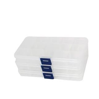 Unique Bargains Plastic Case Fishing Lure Bait Storage Angling Tackle Box Container Clear 3PCS