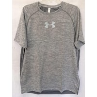 Men's Under Armour 1294136 UA Heat Gear Raid Short Sleeve Shirt Grey Large