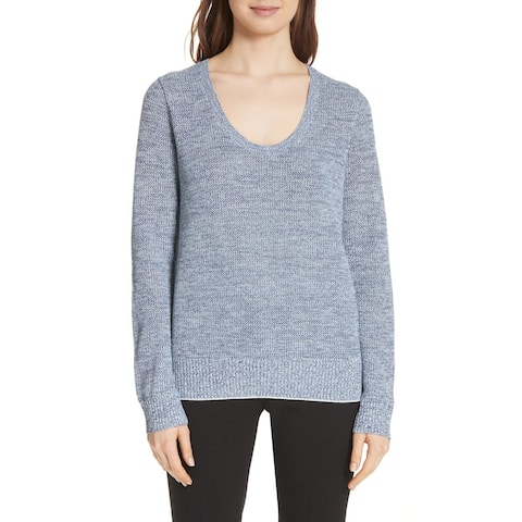 Theory Prosecco Marled Sweater, Blue, Small