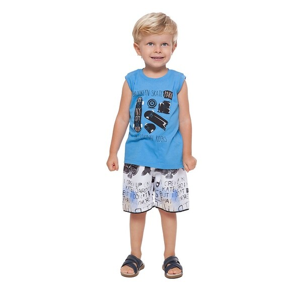Toddler Boy Outfit Tank Muscle Shirt and Shorts 2-piece Set Pulla Bulla 1-3 Year