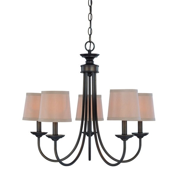 """Jeremiah Lighting 26125 Spencer Single Tier 5-Light Candle Style Chandelier - 22"""" Wide"""