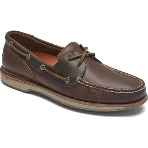 huge discount e1c6a f70ab Rockport Men s Perth Boat Shoe Beeswax Dark Brown Leather
