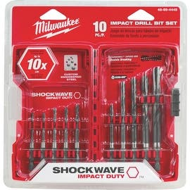 Milwaukee 10Pc Shockwave Bit Set|https://ak1.ostkcdn.com/images/products/is/images/direct/6be8d5b146c284c123c115e9202265fc8a46238c/Milwaukee-10Pc-Shockwave-Bit-Set.jpg?impolicy=medium