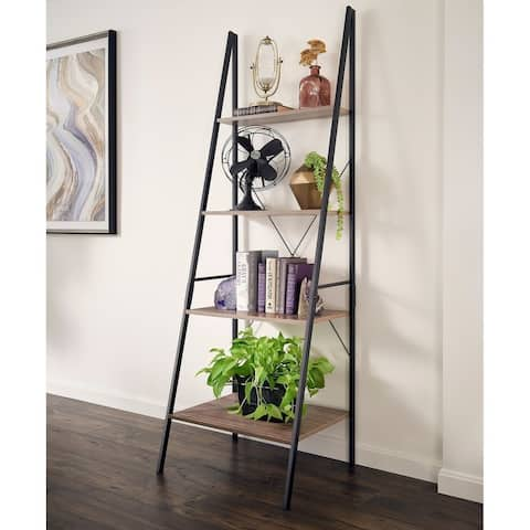 Carbon Loft Morse Industrial Ladder 4-Tier Bookshelf