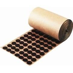 "Brown Adhesive Felt Pad - Button 1/2"" Diameter 1,000 / Roll"