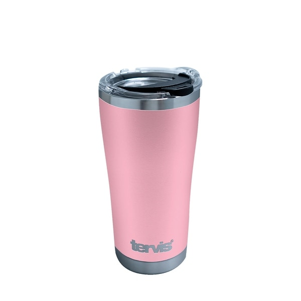 47f7127662f Powder Coated Pink 20 oz Stainless Steel Tumbler with lid