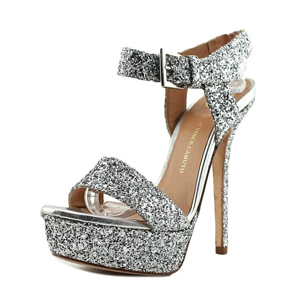 VC Signature Roxanne Women Open Toe Synthetic Silver Platform Sandal