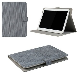 "JAVOedge Classic Stripe Universal 7-8"" Book Case for the iPad Mini, Samsung Tab, Nexus 7, Nook HD (Blue)"