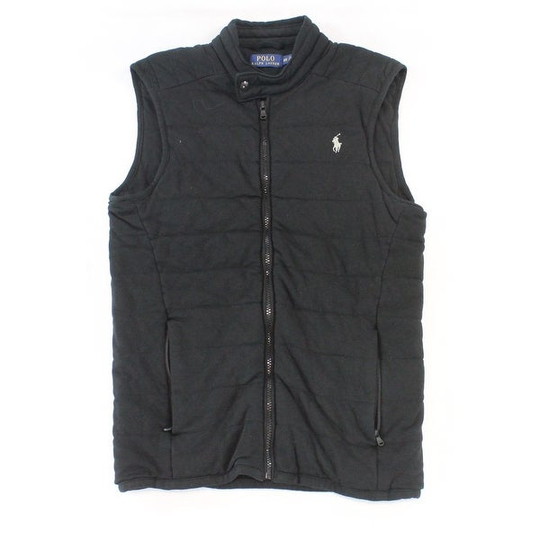 Zip Jacket M Black Lauren Up Ralph Medium Polo New Size Mens Vest 5A4jRL