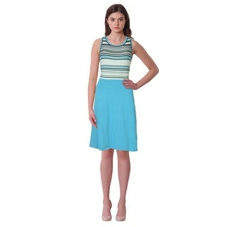 Jones New York Sleeveless Striped Top Knit Dress