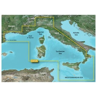 Garmin VEU012R - Mediterranean Sea, Central-West S Navigational Software