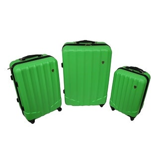 3 Pc. Brightly Colored Hard Shell Rugged Rolling Luggage Set