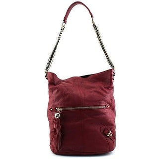 Dolce Vita Pebbled Hobo Women Leather Hobo - Red