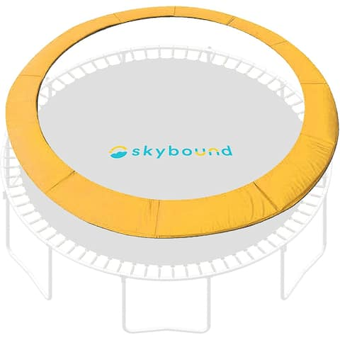 """SkyBound 14ft Trampoline Spring Cover Pad fits up to 7"""" Springs-Yellow - 14"""""""