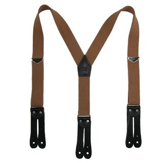 Welch Men's Elastic Button-End Y-Back 1 1/2 Inch Double Face Suspenders - One Size