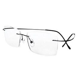 Eyekepper Titanium Rimless Reading Glasses Readers Men Black +1.5