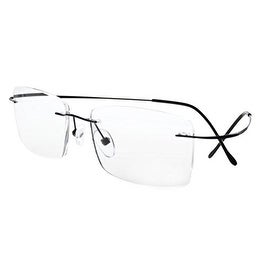 Eyekepper Titanium Rimless Reading Glasses Readers Men Black +1.75