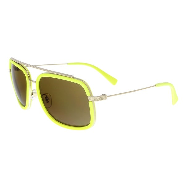 a9a19cfedc Versace Versace2173 139473 Pale Gold  Fluorescent yellow Rectangle  Sunglasses