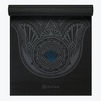 GAIAM Premium Hamsa Printed Yoga Mats (3MM) Black