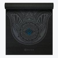 GAIAM Premium Hamsa Printed Yoga Mats (3MM) Black
