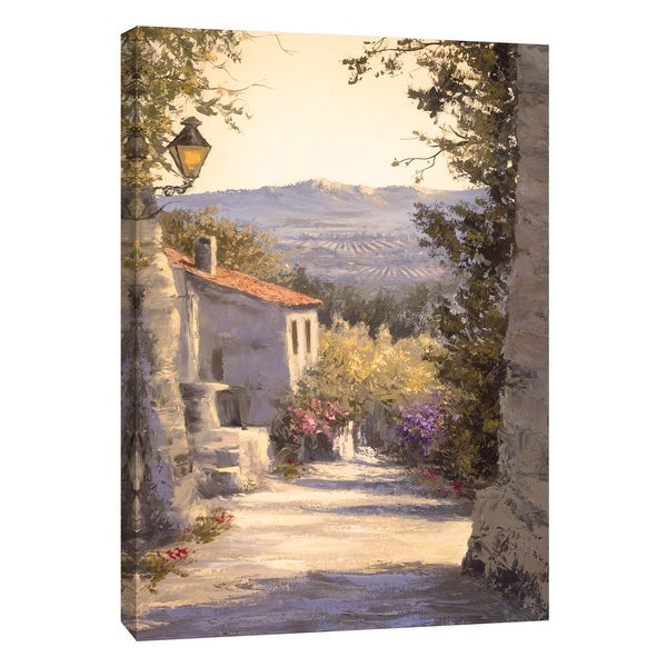 """PTM Images 9-108451 PTM Canvas Collection 10"""" x 8"""" - """"Apres-Midi Serein I"""" Giclee Houses Art Print on Canvas"""