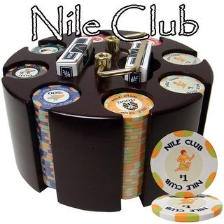 200 Ct Standard Nile Club Chip Set in Wooden Carousel
