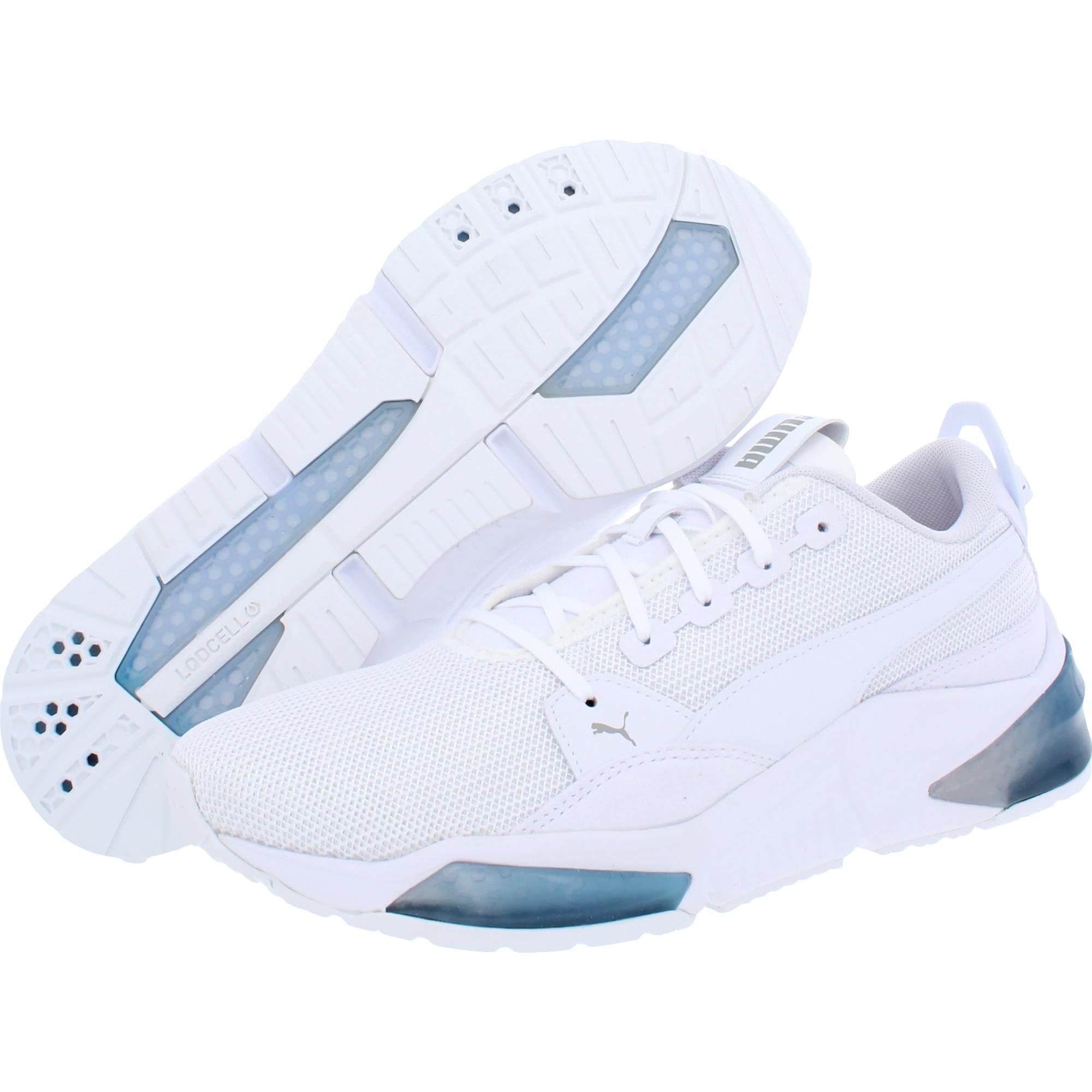 Puma Mens LQDCell Optic Dim Running Shoes Mesh Fitness - Puma White/Palace Blue