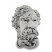 Mark Twain Stone Finish Wall Hanging Sculpture