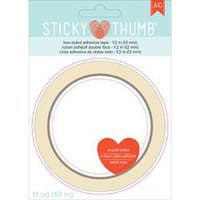 ".5""X11yd - Sticky Thumb Double-Sided Tape"