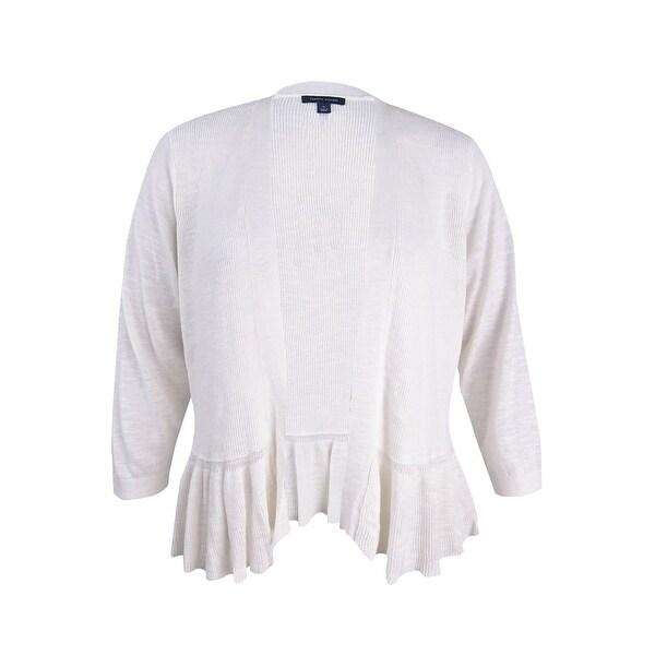 d489796051e Shop Tommy Hilfiger Women s Plus Size Peplum Cardigan (1X