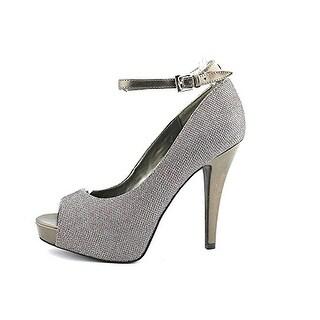 G By Guess Women's Valora Peep Toe Platform Heel