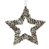 "13"" In The Birches White Pine Cone Star Christmas Ornament"