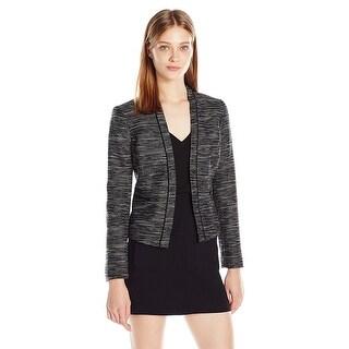 Nine West Tweed Long Sleeve Open Front Jacket Blazer