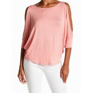 Michael Stars NEW Pink Slamon Womens Size Medium M Cold-Shoulder Top