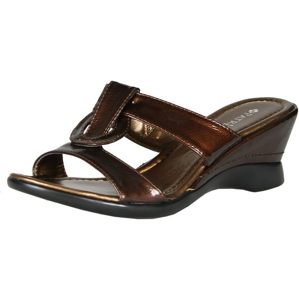 Spring Step Womens Affinity Fashion Wedge Sandals Slides