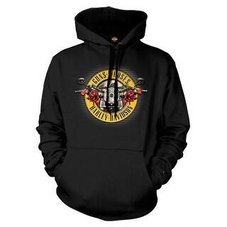 Harley-Davidson Men's Guns N' Roses Cover Motorcycle Hooded Sweatshirt, Black