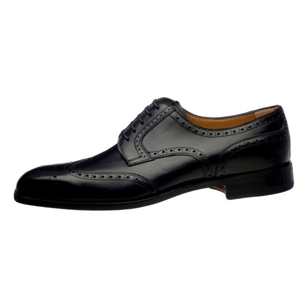 Ferrini Dress Shoes Mens French Calf Leather Lace Up Oxford