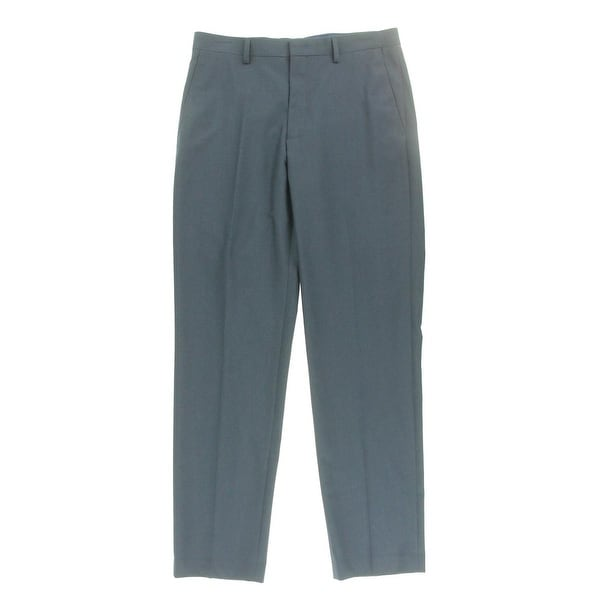M151 Mens Dress Pants Solid Slit Pockets