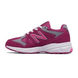 Kids New Balance Girls kj888pgg Low Top Lace Up Walking Shoes
