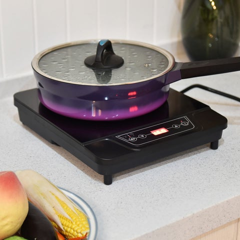 Costway 1800W Electric Induction Cooker Single Burner Portable Digital Hot Plate Kitchen