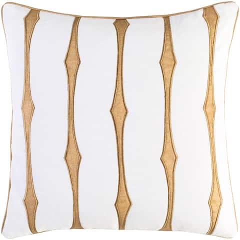 Decorative Pool White 22-inch Throw Pillow Cover