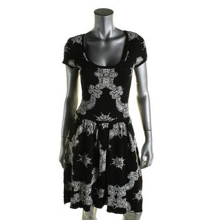 Romeo & Juliet Couture Womens Casual Dress Printed Pleated