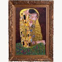 Gustav Klimt 'The Kiss' (Luxury Line) Hand Painted Oil Reprodution