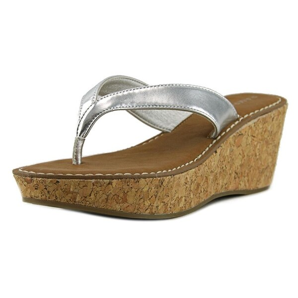 Rampage Daley Women Open Toe Synthetic Silver Wedge Sandal