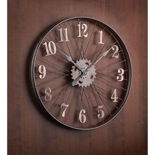 """Bike Rim Wall Clock - Large 24"""" Diameter Bicycle Wheel"""