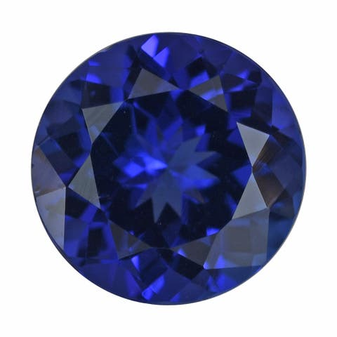 2.10 ctw AAAA Blue Tanzanite Loose Gemstone Birthstone Round 8 mm